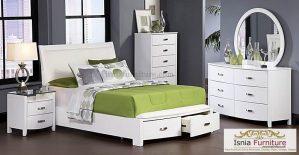 Kamar Set Putih Elegan Bed Laci