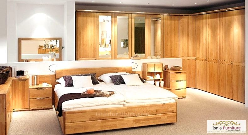 model kamar set jati minimalis terbaru