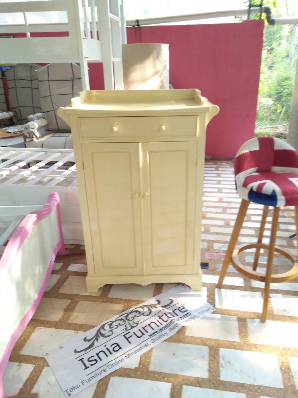 Dresser Minimalis Kayu Mahoni