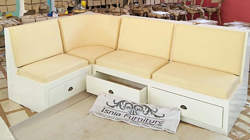 model kursi tamu sofa sudut laci