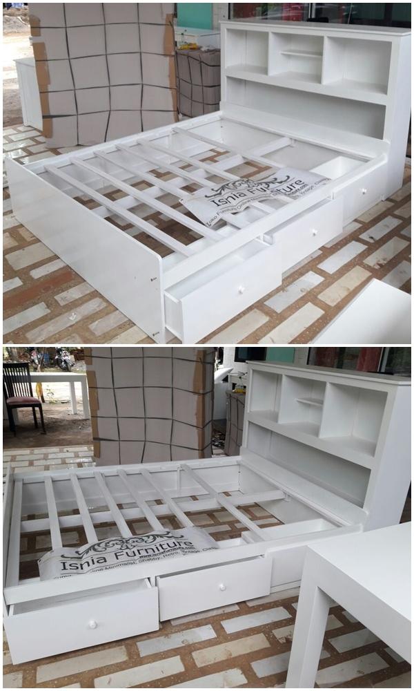 Rincian Tempat Tidur Laci Multiguna Untuk Kamar Minimalis