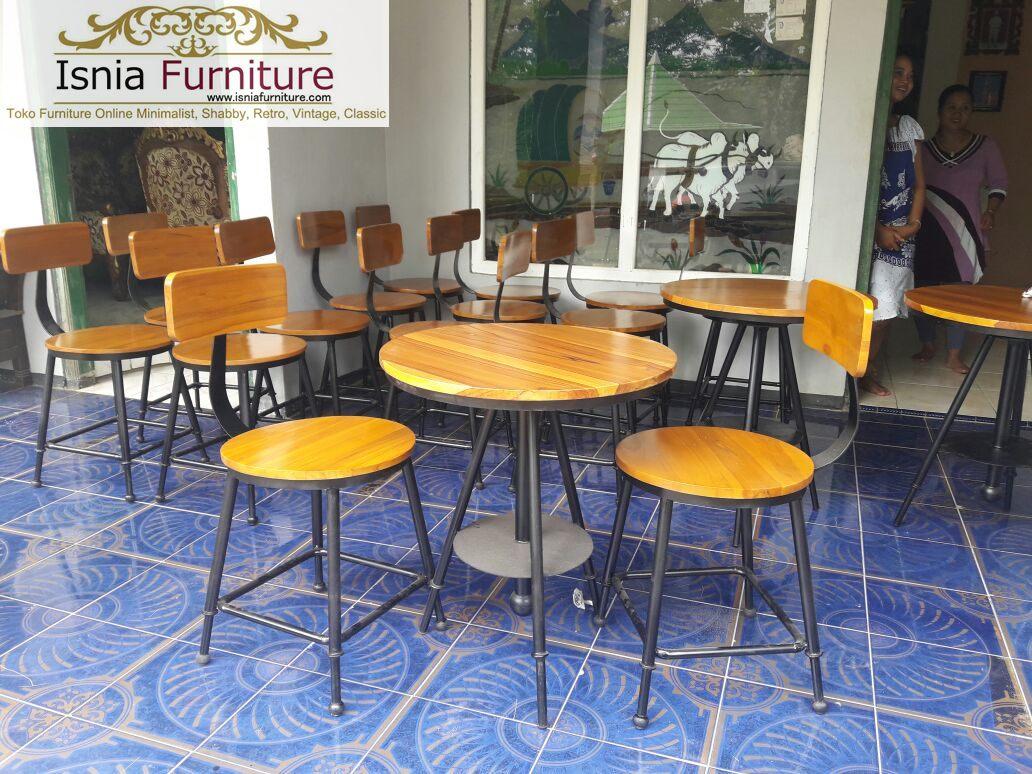 meja kursi bahan besi kayu jati
