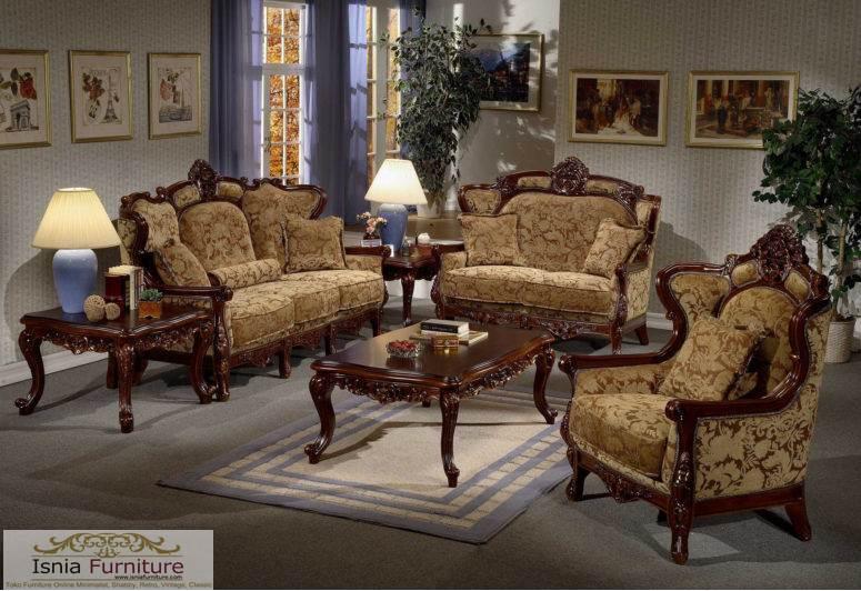 Set Kursi Sofa Tuscan Ruang Tamu Modern