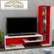 Meja Tv Bogor Warna Merah Putih Modern