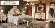 Set Tempat Tidur Mewah Mojokerto Ukir Duco Gold