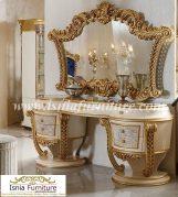 Jual Meja Rias Consule Ukir Mewah Jakarta Gold Glossy
