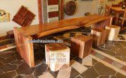Meja Makan Mewah Palembang Kayu Trembesi Solid
