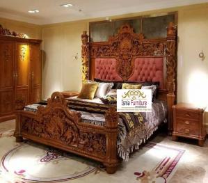 Tempat Tidur Mewah Madiun Ukir Gebyok Klasik Jati Harga Termurah