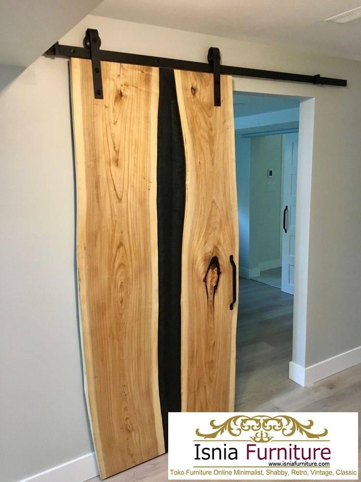 Jual Pintu Kayu Trembesi Solid Alami Kualitas Terbaik
