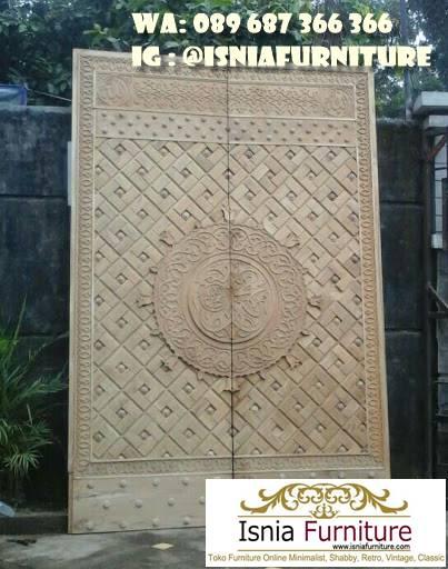 Jual Pintu Masjid Nabawi Kayu Jati Minimalis Solid