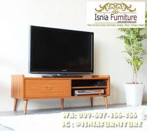 Lemari Tv Minimalis Kayu Jati Style Modern